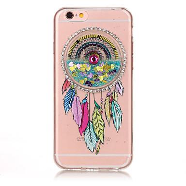 Için Taşlı Akan Sıvı Süslü Temalı Pouzdro Arka Kılıf Pouzdro Düşkapanı Yumuşak TPU için AppleiPhone 7 Plus iPhone 7 iPhone 6s Plus iPhone