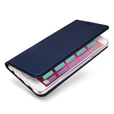 voordelige Galaxy A-serie hoesjes / covers-hoesje Voor Samsung Galaxy A3 (2017) / A5 (2017) / A7 (2017) Kaarthouder / Flip / Magnetisch Volledig hoesje Effen Hard PU-nahka