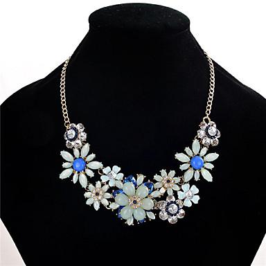 Kadın's Kristal Yapay Elmas Kristal Yapay Elmas Açıklama Kolye - Çiçek Çiçek Stili Çiçekler Euramerican Moda Diğerleri Çiçek Siyah