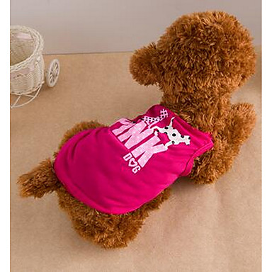Köpek Elbiseler Köpek Giyimi Sevimli Günlük/Sade Karton Mor Kırmzı Açık Yeşil
