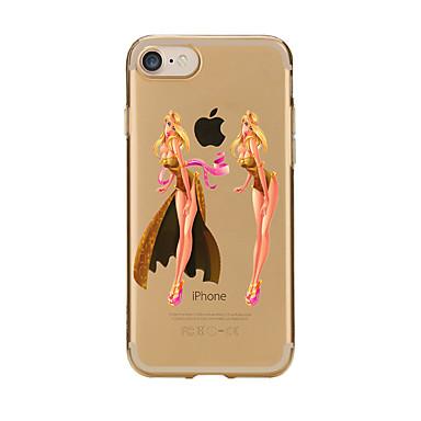 Pentru Transparent Model Maska Carcasă Spate Maska Femeie Sexy Moale TPU pentru AppleiPhone 7 Plus iPhone 7 iPhone 6s Plus iPhone 6 Plus