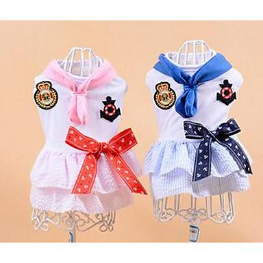 Câini Rochii Îmbrăcăminte Câini Vara Buline Drăguț Casul/Zilnic Roz Albastru Deschis