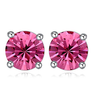 Damskie Kolczyki na sztyft Kryształ Modny Kryształ Pozłacane Kryształ austriacki Circle Shape Biżuteria Impreza Codzienny Casual