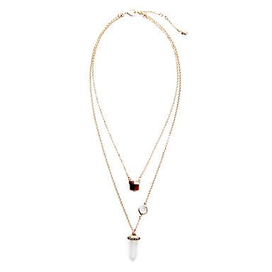 Kadın's katmanlı Kolyeler Geometric Shape Kişiselleştirilmiş Euramerican Beyaz Mücevher Için Düğün 1pc