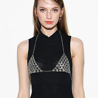 Damskie Biżuteria Łańcuch nadwozia / Belly Chain Modny Stop Geometric Shape Silver Biżuteria Na Casual 1szt