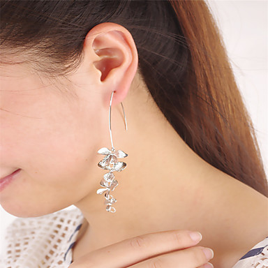 Γυναικεία θαυμαστής σκουλαρίκια Κοσμήματα Λουλουδάτο Geometric Λουλούδι Κρεμαστό Ακρυλικό Λουλούδια Euramerican Κράμα Λουλούδι Κοσμήματα