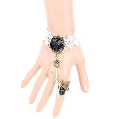 Damskie Bransoletki i łańcuszki na rękę Modny Koronka Kropla Black Biżuteria Na Ślub Impreza Specjalne okazje Urodziny Zaręczynowy 1szt