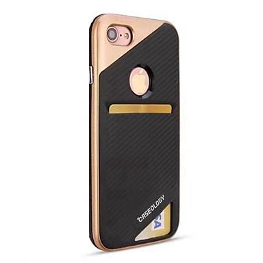 Kılıflar Kapaklar Apple için iPhone 8 iPhone 8 Plus Arka Kılıf Kart Tutucu Şoka Dayanıklı Zırh Sert PC iPhone 8 Plus iPhone 8 iPhone 7