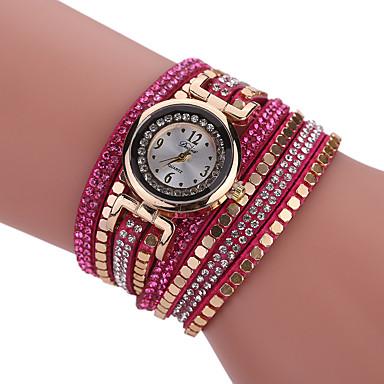 Damskie Zegarek na bransoletce Kwarcowy Stop Pasmo Na co dzień Czarny Biały Niebieski Czerwony Brązowy Szary Purpurowy
