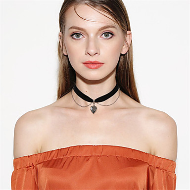 Pentru femei Coliere Choker / Coliere cu Pandativ / Pandative - Inimă Personalizat, Stil Atârnat, Modă Negru Coliere Pentru Petrecere, Ocazie specială, Felicitări