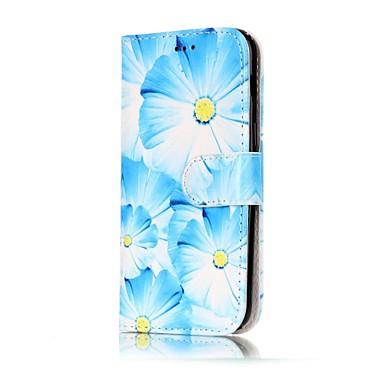 Etui Käyttötarkoitus Samsung Galaxy A5(2017) A3(2017) Lomapkko Korttikotelo Tuella Flip Kuvio Magneetti Kokonaan peittävä Kukka Kova