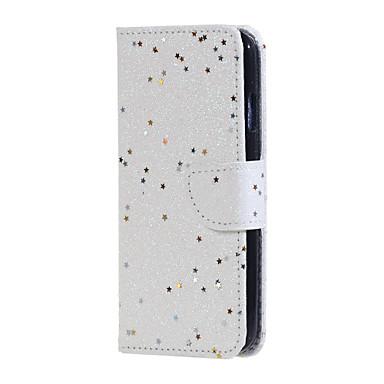 Για Πορτοφόλι Θήκη καρτών με βάση στήριξης Ανοιγόμενη tok Πλήρης κάλυψη tok Λάμψη γκλίτερ Σκληρή Συνθετικό δέρμα για HuaweiHuawei P9 Lite