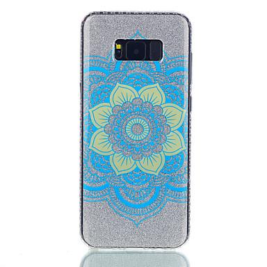 Etui Käyttötarkoitus Samsung Galaxy S8 Plus S8 IMD Kuvio Takakuori Mandala Kimmeltävä Kova PC varten S8 S8 Plus S7 edge S7