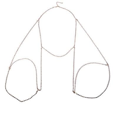Naisten Kehokorut Body Ketju / vatsa ketju Nature Muoti Gem Metalliseos Geometric Shape Kulta Hopea Korut VartenErikoistilaisuus