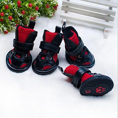 Kedi Köpek Ayakkabılar ve Botlar Klasik Sevimli Doğum Dünü Günlük/Sade Ters Çevirilebilir Sporlar Düğün Moda İngiliz Kırmzı Pembe Evcil