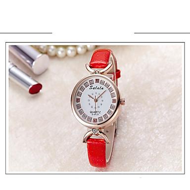 Bayanların Moda Saat Sahte Elmas Saat Quartz Deri Bant Günlük Siyah Beyaz Mavi Kırmızı Gri Pembe Mor