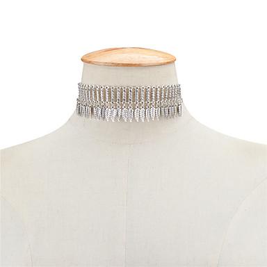 Pentru femei Leaf Shape Stil Atârnat Vintage Boem Euramerican Franjuri Coliere Choker Coliere cu Pandativ Bijuterii Aliaj Coliere Choker