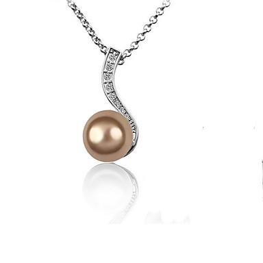 Kadın's Uçlu Kolyeler Kristal Çok güzel Kişiselleştirilmiş Euramerican Beyaz Siyah Bronz Mücevher Için Düğün Parti 1pc