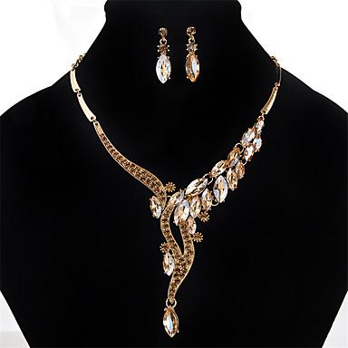 Pentru femei Cristal / Ștras Cristal / Ștras Altele Set bijuterii 1 Colier / 1 Pereche de Cercei - Personalizat / Euramerican Auriu /
