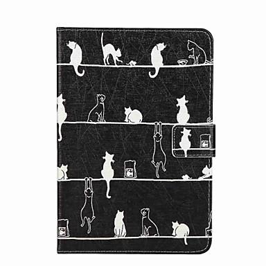 Pouzdro Uyumluluk Apple Cüzdan Kart Tutucu Satandlı Flip Temalı Tam Kaplama Kedi Sert PU Deri için iPad Mini 4 iPad Mini 3/2/1