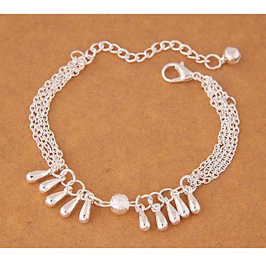 Damskie Bransoletki z breloczkami Modny Stop Kropla Silver Biżuteria Na Impreza 1szt