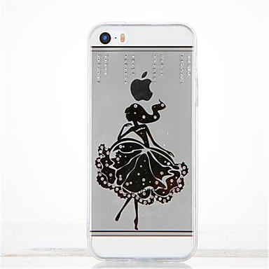 Için Taşlı Kendin-Yap Pouzdro Arka Kılıf Pouzdro Seksi Kadın Yumuşak TPU için Apple iPhone SE/5s iPhone 5