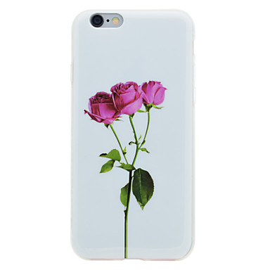 Varten IMD Kuvio Etui Takakuori Etui Kukka Pehmeä TPU varten AppleiPhone 7 Plus iPhone 7 iPhone 6s Plus iPhone 6 Plus iPhone 6s iPhone 6
