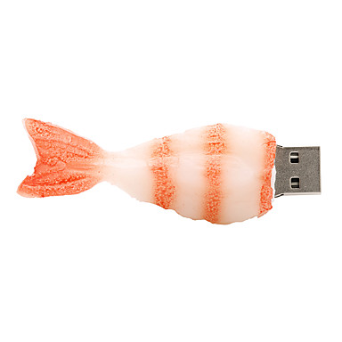 128GB karides lastik USB2.0 flash sürücü diski