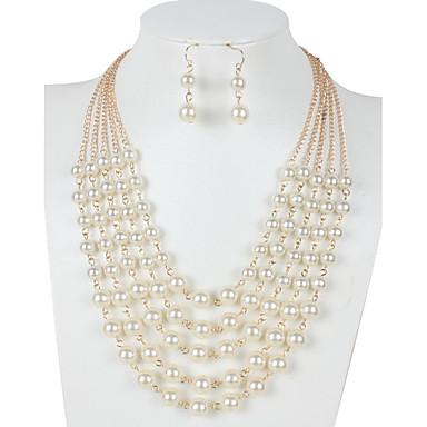 Pentru femei Seturi de bijuterii Perle Altele Euramerican Nuntă Petrecere Zilnic Casual 1 Colier 1 Pereche de Cercei Costum de bijuterii