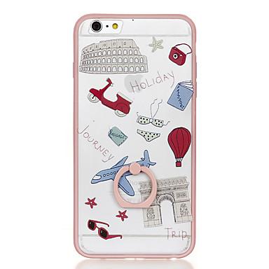 Varten Sormuksen pidike Läpinäkyvä Kuvio Etui Takakuori Etui Piirros Kova PC varten Apple iPhone 6s Plus iPhone 6 Plus iPhone 6s iPhone 6