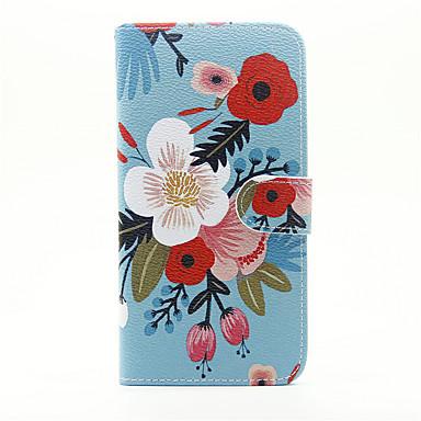 Kılıf Na Apple iPhone 7 Plus iPhone 7 Etui na karty Portfel Z podpórką Flip Pełne etui Kwiaty Twarde Skóra PU na iPhone 7 Plus iPhone 7