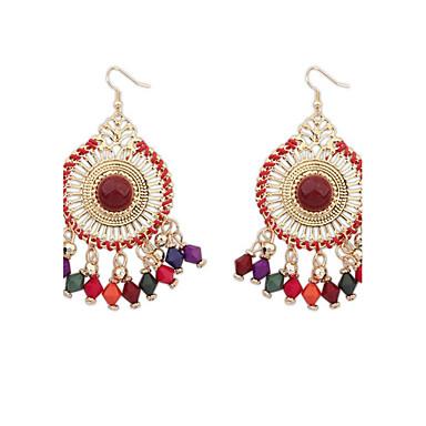 Γυναικεία Κρεμαστά Σκουλαρίκια Κοσμήματα Κυκλικό Μοναδικό Πεπαλαιωμένο κοστούμι κοστουμιών Κράμα Round Shape Κοσμήματα Για Πάρτι