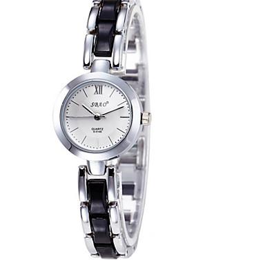 Bayanların Moda Saat Sahte Elmas Saat Quartz Seramik Bant Günlük Siyah Beyaz Gümüş Pembe Mor