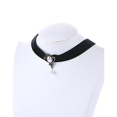 Pentru femei Coliere Choker Cristal Reșină Vintage Personalizat Euramerican Bijuterii Pentru Nuntă Petrecere