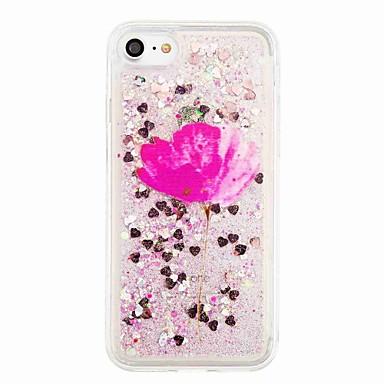 Pouzdro Uyumluluk Apple iPhone 7 Plus iPhone 7 Akan Sıvı Temalı Arka Kapak Çiçek Işıltılı Parlak Yumuşak TPU için iPhone 7 Plus iPhone 7