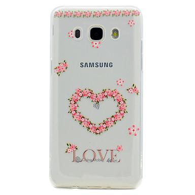 Pouzdro Uyumluluk Samsung Galaxy J7 Prime J5 Prime Şeffaf Temalı Arka Kapak Kalp Yumuşak TPU için J7 Prime J5 Prime J5 (2016) J3 Prime J3