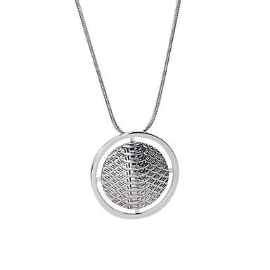 Kadın's Circle Shape Dairesel Tasarım Eşsiz Tasarım Moda minimalist tarzı İngiliz Uçlu Kolyeler Mücevher alaşım Uçlu Kolyeler , Düğün