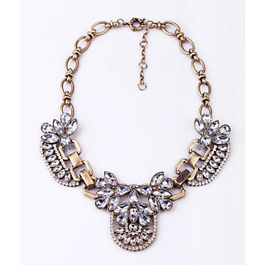 Pentru femei Floare Formă Design Unic Coliere Cristal Crom Coliere Casual Costum de bijuterii