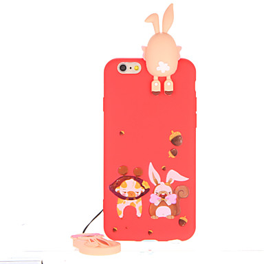 Için Temalı Pouzdro Arka Kılıf Pouzdro 3D Karikatür Yumuşak TPU için AppleiPhone 7 Plus iPhone 7 iPhone 6s Plus iPhone 6 Plus iPhone 6s