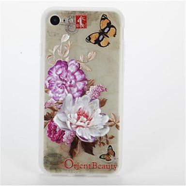 Pentru Model Maska Carcasă Spate Maska Floare Moale TPU pentru AppleiPhone 7 Plus iPhone 7 iPhone 6s Plus iPhone 6 Plus iPhone 6s iphone