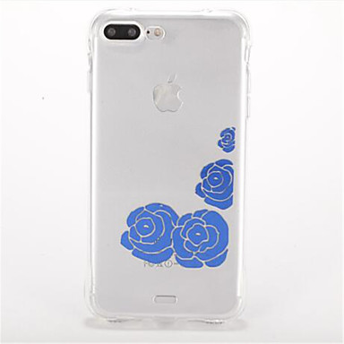 tok Για Apple Ανθεκτική σε πτώσεις Επιμεταλλωμένη Με σχέδια Πίσω Κάλυμμα Λουλούδι Μαλακή TPU για iPhone 7 Plus iPhone 7 iPhone 6s Plus