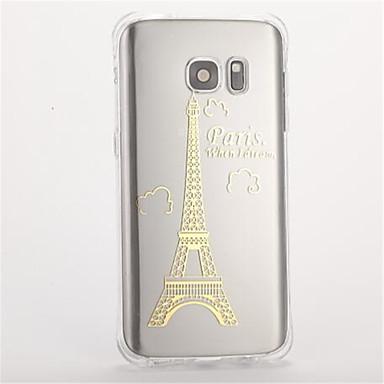 Pouzdro Uyumluluk Samsung Galaxy S7 edge S7 Şoka Dayanıklı Temalı Arka Kılıf Eiffel Kulesi Yumuşak TPU için S7 edge S7 S6 S5
