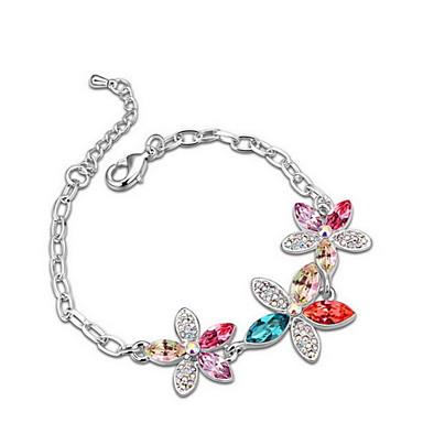 Γυναικεία Βραχιόλια με Αλυσίδα & Κούμπωμα Κοσμήματα Φιλία Μοντέρνα Κρύσταλλο Κράμα Geometric Shape Κοσμήματα Πάρτι Γενέθλια