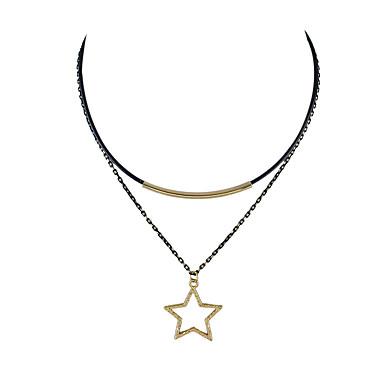 للمرأة قلادات ضيقة تصميم بسيط أسود مجوهرات إلى فضفاض 1PC