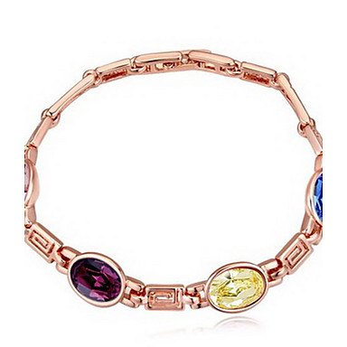 Γυναικεία Βραχιόλια με Αλυσίδα & Κούμπωμα Κοσμήματα Φιλία Μοντέρνα Κρύσταλλο Κράμα Geometric Shape Κοσμήματα Για Πάρτι Γενέθλια