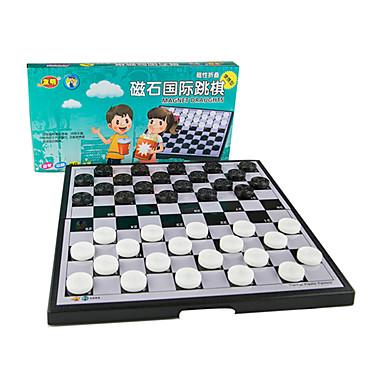 ألعاب الطاولة لعبة الشطرنج شطرنج ألعاب مغناطيس مربع بلاستيك معدن استايل صيني قطع للجنسين هدية