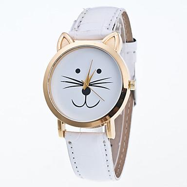 pentru Doamne Ceas Sport Ceas Elegant Ceas La Modă Ceas de Mână Quartz Mare Dial Piele Autentică Bandă Charm MulticolorAlb Mov Galben