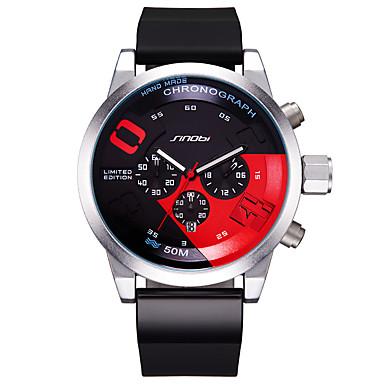 SINOBI Ανδρικά Μοναδικό Creative ρολόι Αθλητικό Ρολόι Κινέζικα Χαλαζίας Ημερολόγιο Ανθεκτικό στο Νερό Μεγάλο καντράν Πανκ Χρονόμετρο