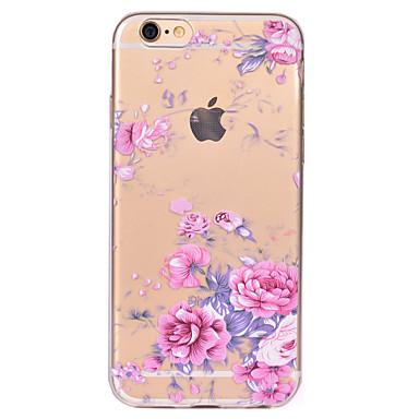 Kılıf Na Apple iPhone X iPhone 8 Przezroczyste Wzór Czarne etui Kwiaty Miękkie TPU na iPhone X iPhone 8 Plus iPhone 8 iPhone 7 Plus