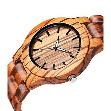 お買い得  メンズ腕時計-男性用 リストウォッチ クォーツ ウッド ベージュ 木製 ハンズ エレガント